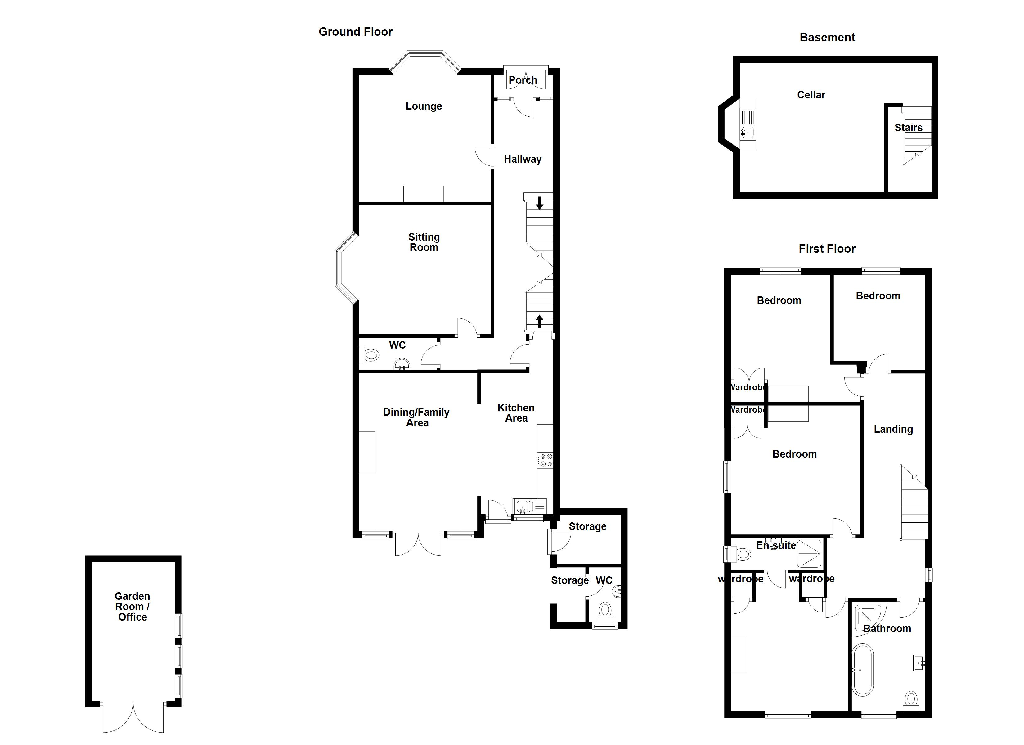 example floor plan for a sales process
